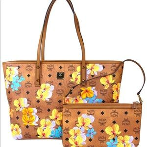 MCM Essential Floral-print tote bag with pouch